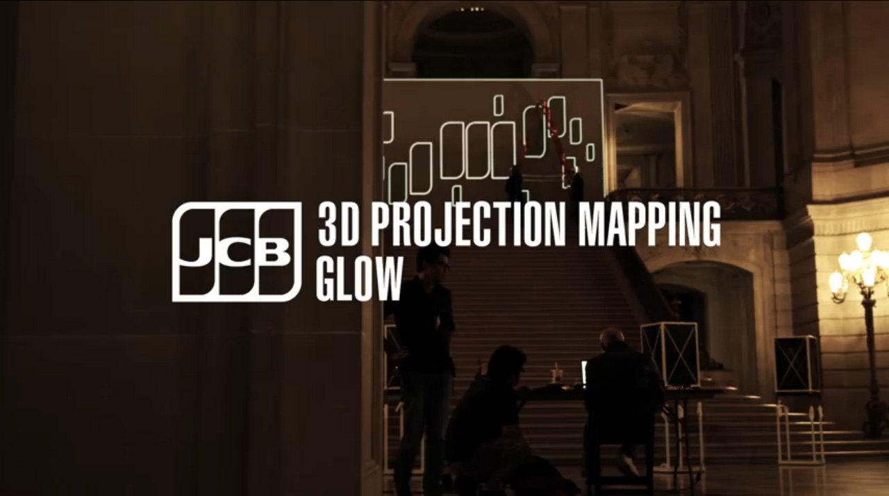 イメージ:JCB 3D Projection Mapping at San Francisco City Hall work「GLOW」
